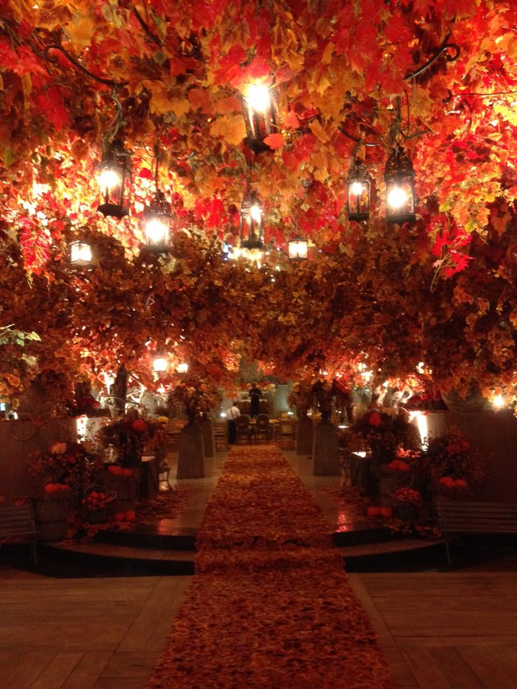 Autumn wedding decoration