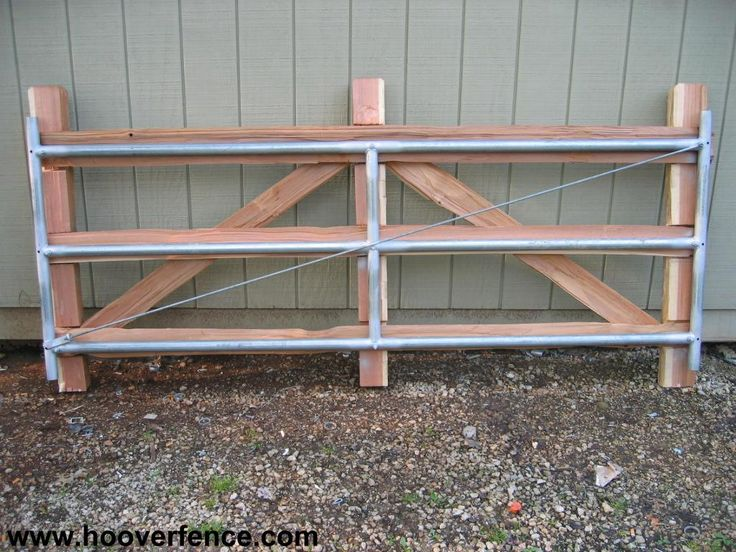Split Rail Fence Gate Design Use Two Gate Leaves Or