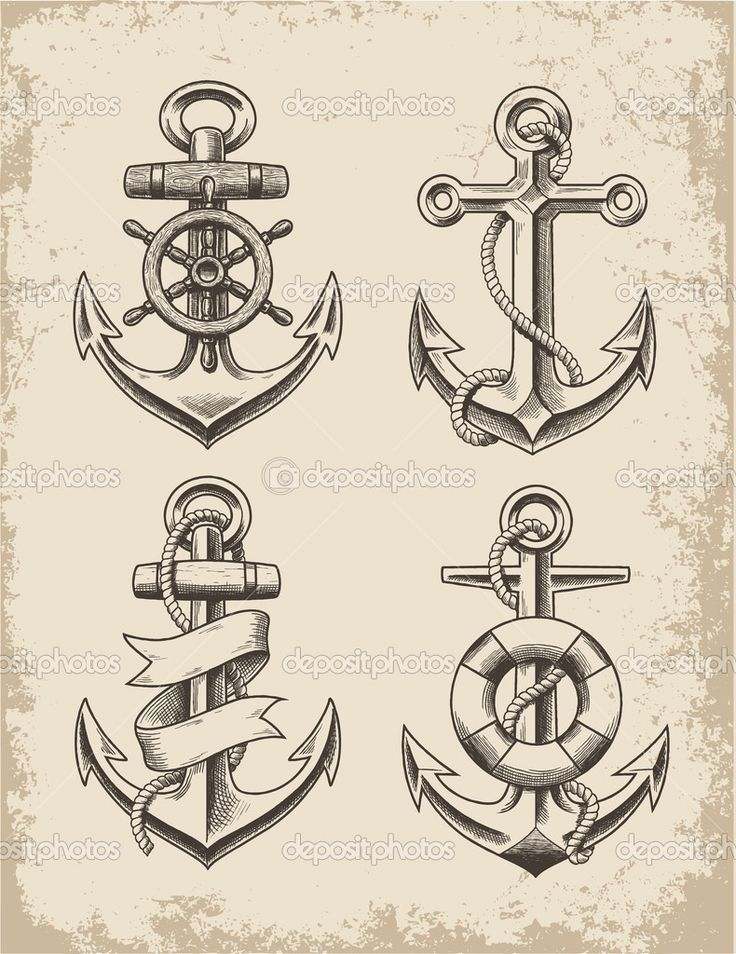 vintage anchor tattoo navy anchor tattoos anchor compass tattoo anchor ...