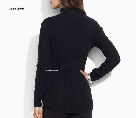 Вязаный свитер спицами от Ralph Lauren - СХЕМА  http://mslanavi.com/2017/02/vyazanyj-sviter-spicami-ot-ralph-lauren-2/