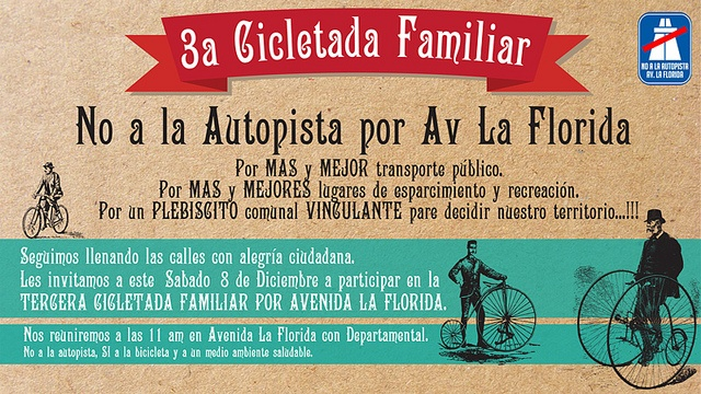 3ª Cicletada No a la Autopista by Red Precordillera, via Flickr