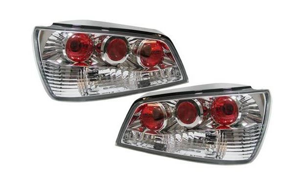 PEUGEOT 306 MK1 HATCHBACK 1993-4/1997 REAR TAIL LIGHTS CHROME LEXUS