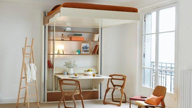 17 meilleures id es propos de lit escamotable plafond - Lit escamotable electrique ...