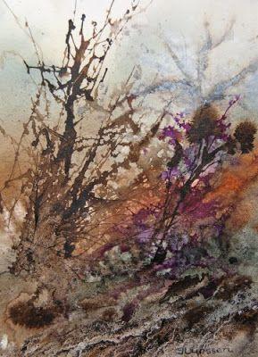 Jean Lurssen - watercolors: Tangled Undergrowth
