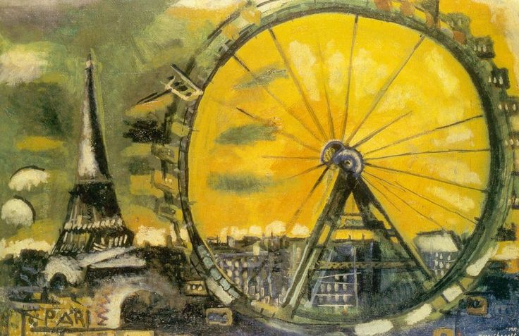 Marc Chagall - The Big Wheel
