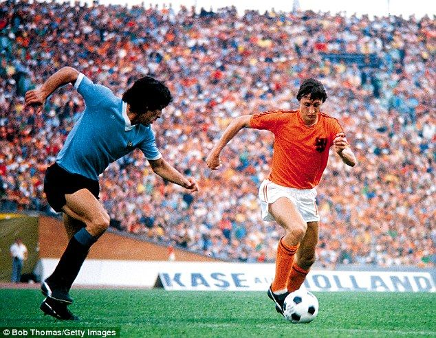 Johan Cruyff lead the Dutch to the World Cup final in 1974.