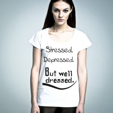 Stressed Depressed.. #tshirt from #PornCorn. #Awesome #tshirts by #NOH8 Syndicate! Be #original and in #fashion!