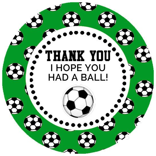 Printable Soccer Party Favor Tags / Stickers - pinned by pin4etsy.com