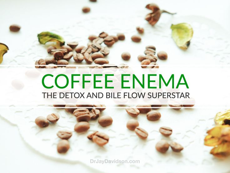 A great way to open the bile duct and empty your colon is to do a coffee enema. Its a simple - at home - way to increase your health in minutes!