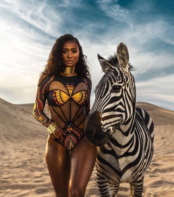 Collection of African Print Inspired swimwear – YangaMarket.com