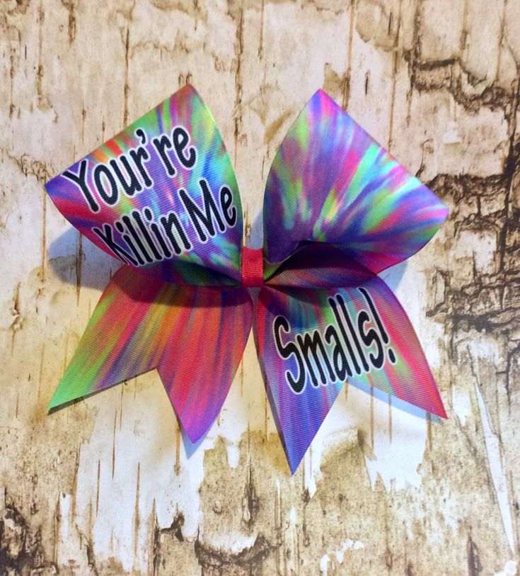 Excited to share the latest addition to my #etsy shop: Softball Bow/Cheer Bows/Your Killin Me Smalls Bow/Cheerleading Bows/tie die bows
