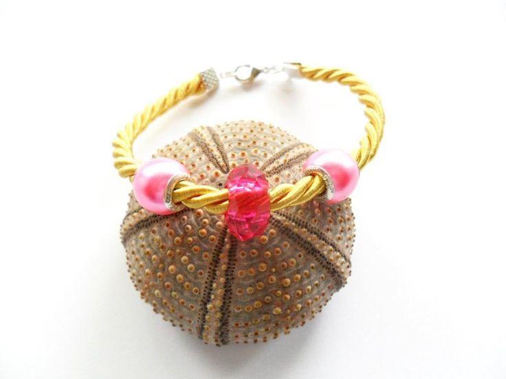 bransoletka 20 cm Boho style - Multicolor w Kokonek na DaWanda.com