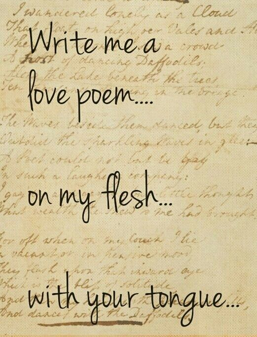 how to write a love poem to a boy