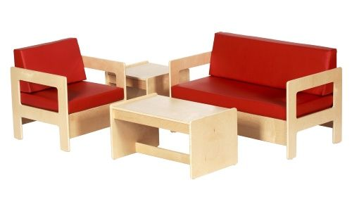 ECR4KIDS Red Living Room Set - 4 Piece