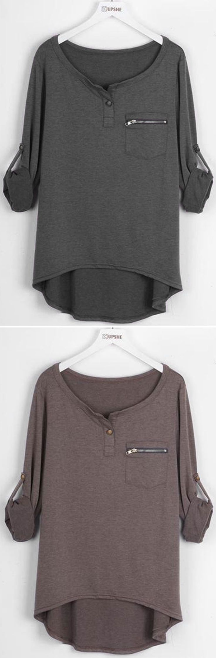 Shirt design new look - Big City Night High Low Top