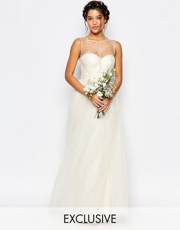 Image 1 ofChi Chi London Bridal Tulle Maxi Dress