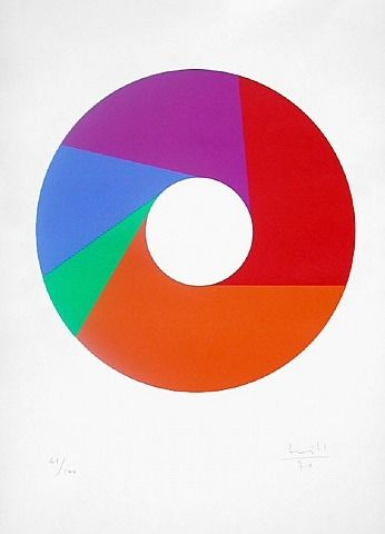Max Bill — Five Part Ring, serigraph (1970)