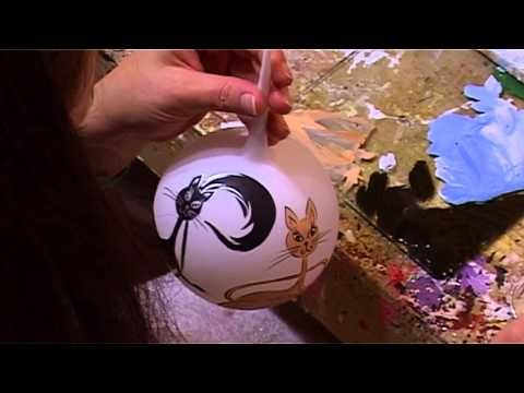 Bombki choinkowe - Hand made Christmas Balls - Koty - YouTube