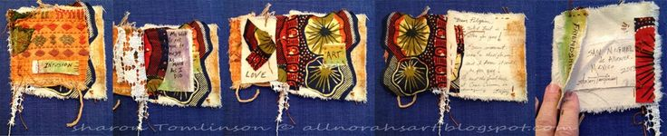Norah'S: Infusion in San Miguel de Allende Mexico, a cloth booklet made by me, Sharon Tomlinson