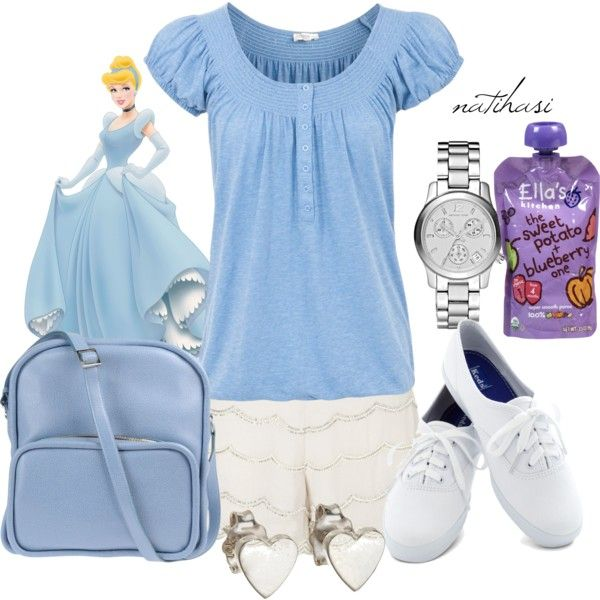 """""""Disney Theme Park Summer Outfit: Cinderella"""" by natihasi on Polyvore"""