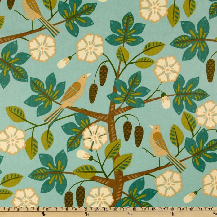 Waverly Small Talk Mint Julep--too busy a pattern for curtains? Really like it...