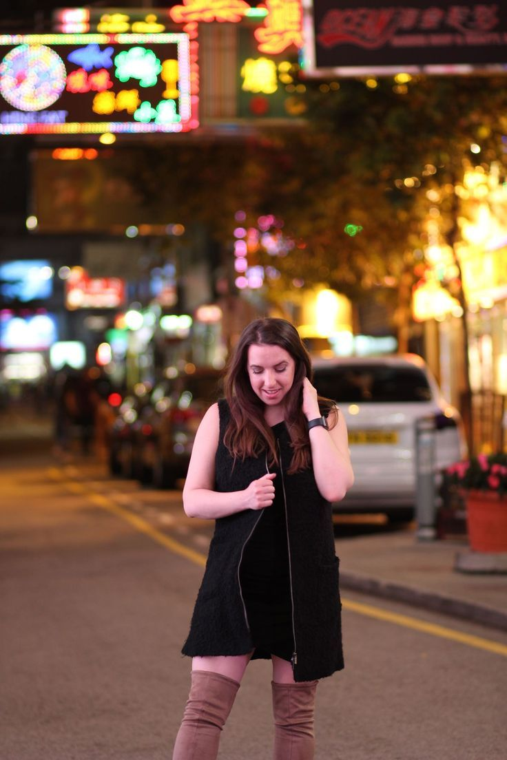 What To Wear in Hong Kong: OTK boots & faur fur gilet