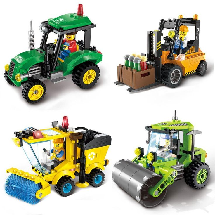 ENLIGHTEN City Series Forklift Truck Building Blocks Compatible with Lego City Construction Blocks Toy for Children Gift