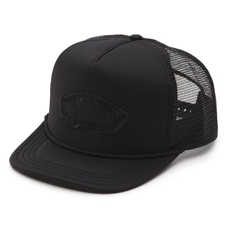 Vans Classic Patch Trucker Hat Black Black VN000H2VBLK