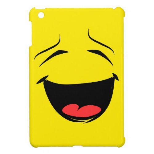 Super Happy Smiley Face Emoji iPad Mini Cases