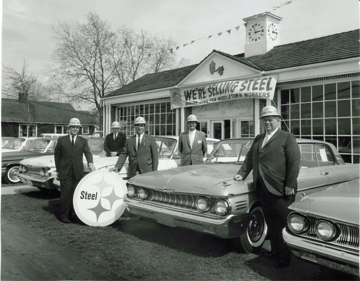 '60's Lincoln mercury Dealership promoting locally sourced steel!