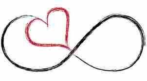 Pretty Infinity Heart symbol....