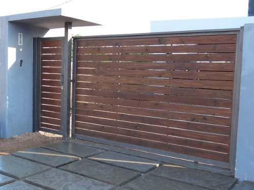 The 25 best porton hierro y madera ideas on pinterest - Puertas para casas modernas ...