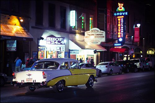 The famous Sixth Street in Austin, Texas