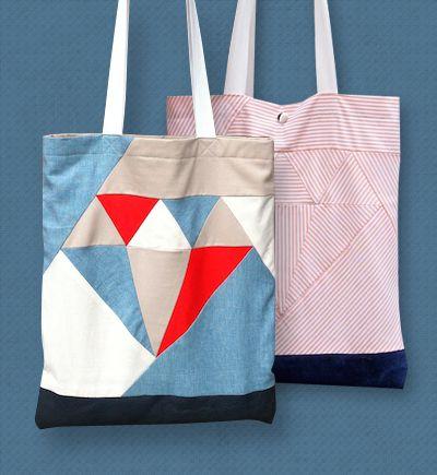 /// Diamond tote bag tutorial