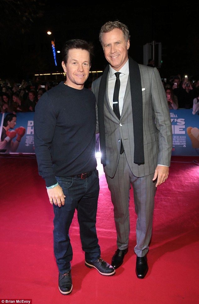 Doing it their way:Mark Wahlberg and Will Ferrell rocked contrasting looks at the Daddy's Home premiere
