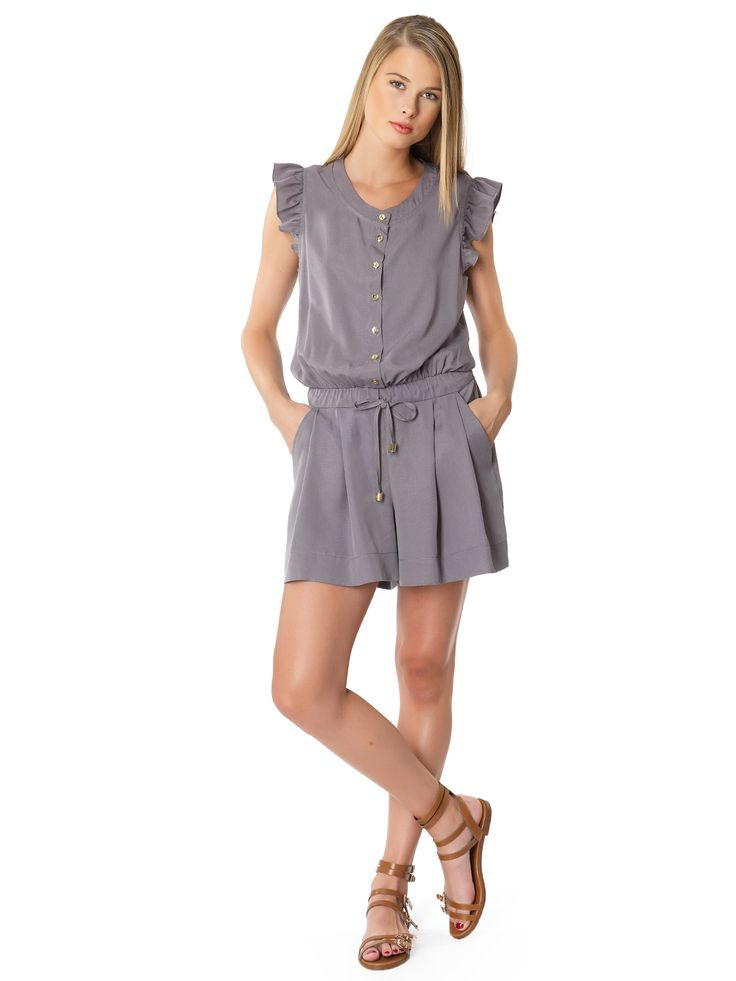 Regalinas ruffle sleeve playsuit
