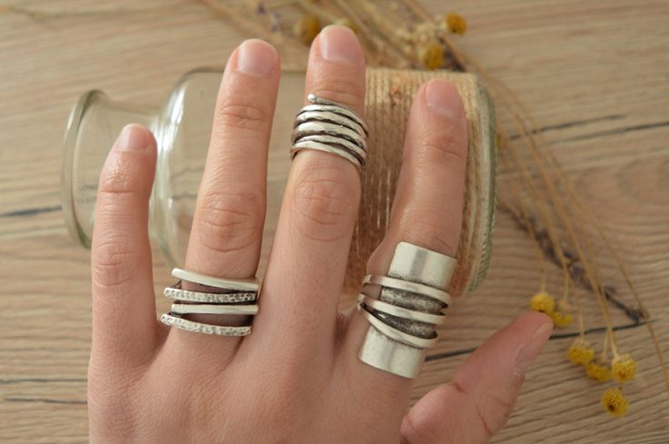 Minimalist Silver Abstract Ring, Four lines ring, Boho Silver Modernist Ring, Silver Band Abstract Jewelry, Unique Silver ring, Ring Candy