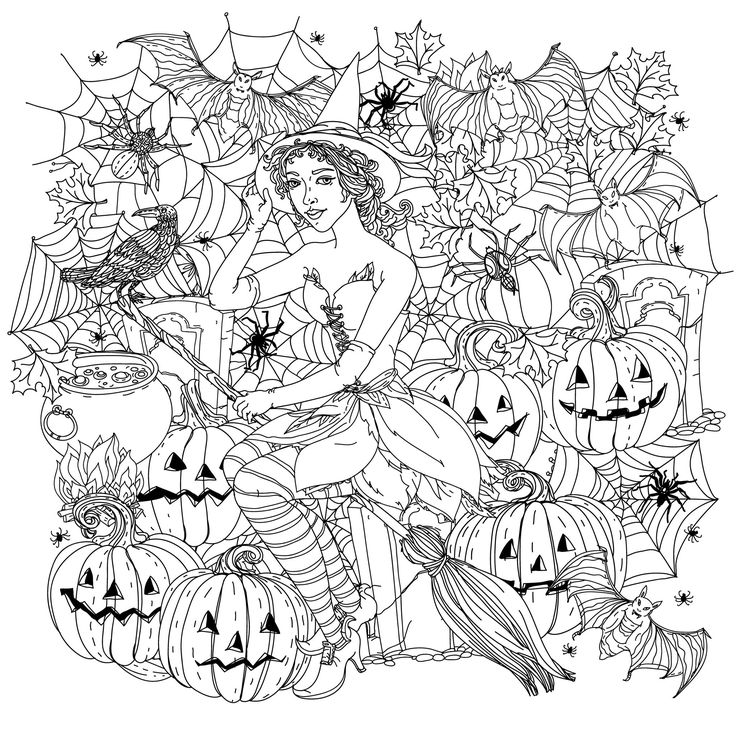 60 best images about halloween colouring pages on for Halloween coloring pages adults