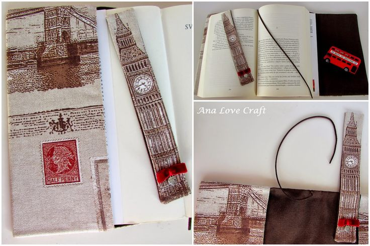 Ana Amor Craft: CAPA DE LIVRO, MARCADOR DE LIVRO E BOLSA DE TELEMÓVEL - capa de livro, marcador e PHONE CASE