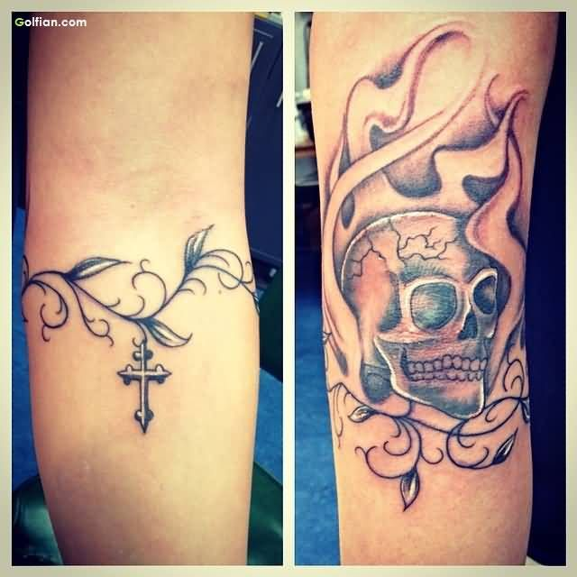 34 best flower armband tattoo outlines images on pinterest for Mens vine tattoo