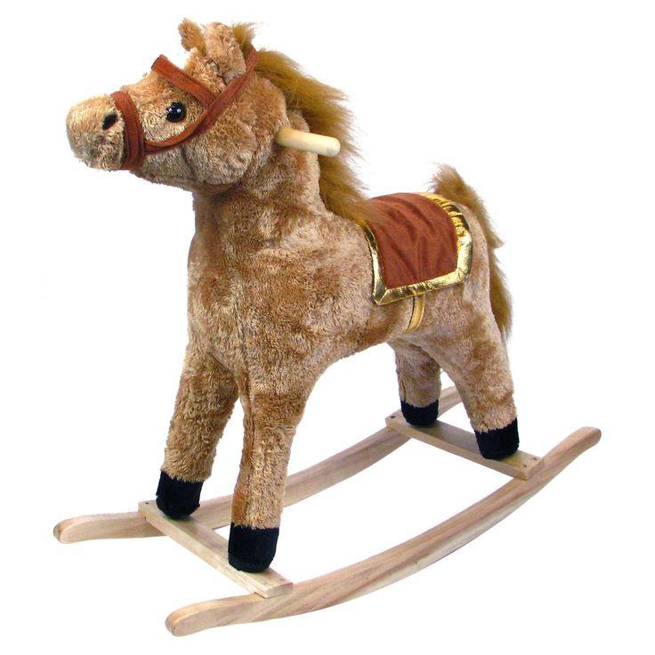 Happy Trails Horse Plush Rocking Horse - Wooden Rocker - 80-100NEW