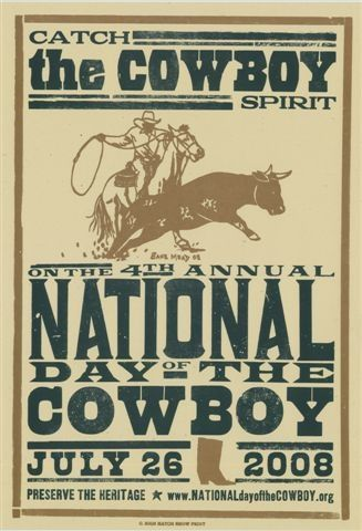 National Day of the Cowboy :: Preserving Pioneer Heritage - NDOC Hatch Poster Series