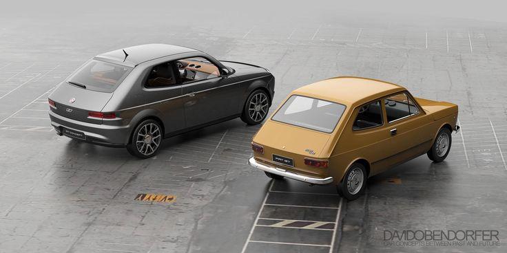 La (ri)voglio verde! In anteprima per Loves Quattroruote le nuove immagini della Fiat 127 Concept di David Obendorfer – GALLERY –