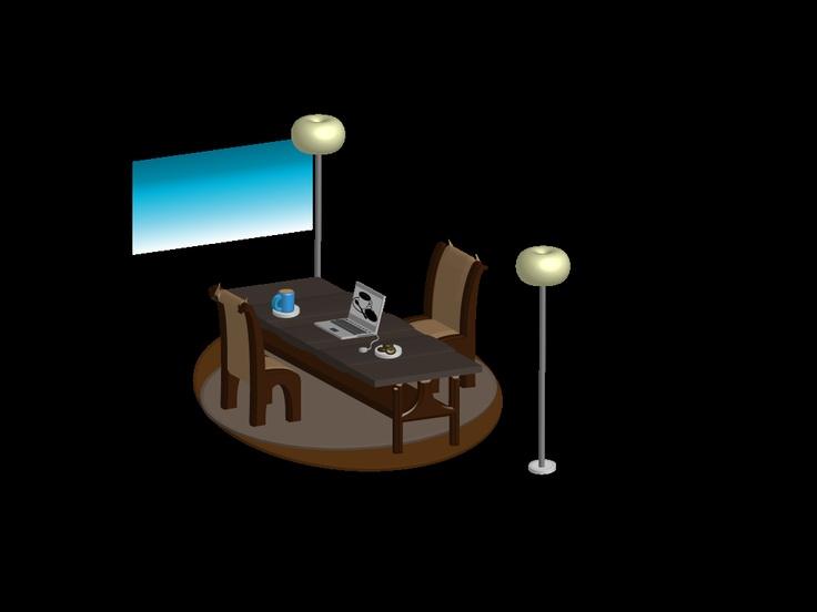 Coffee, Cookies & Laptop 3D Rendering