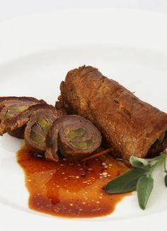 Südtiroler Rezept: Gefüllte Rindsroulade