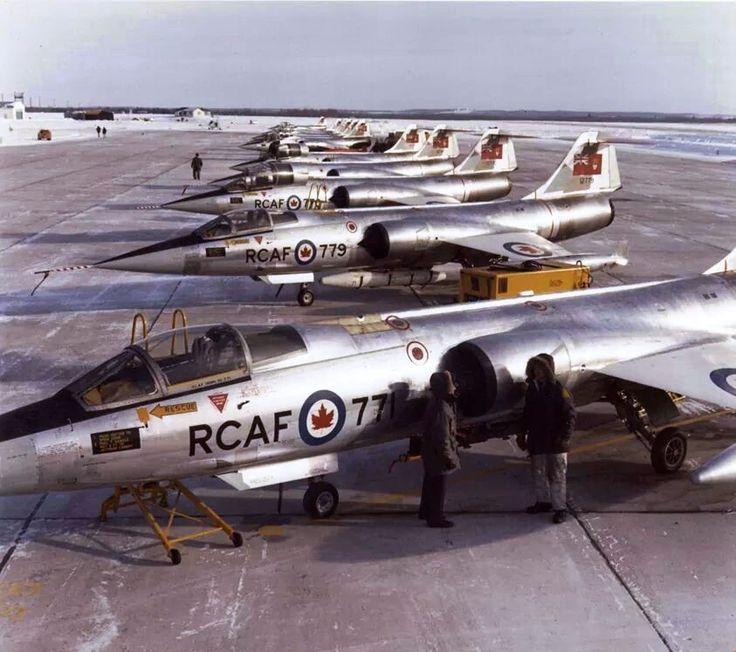 RCAF CF-104Gs at Cold Lake AFB, Alberta, Canada