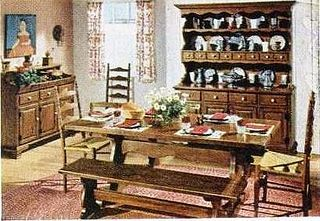 1960's ethan allen early american furniture | 60's Ethan Allen dining room