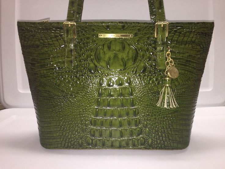 Brahmin Medium Asher Tote Shoulder Bag Chive Green Melbourne Leather  | eBay