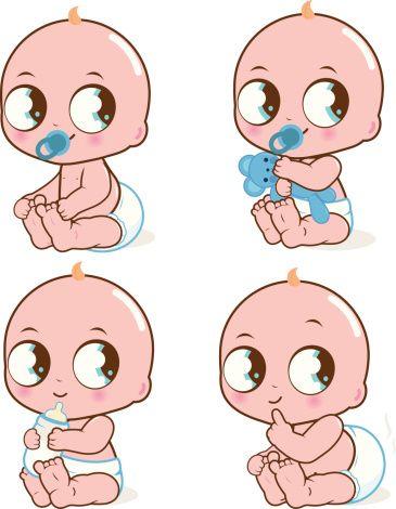 Mignon bébé garçon - Illustration vectorielle