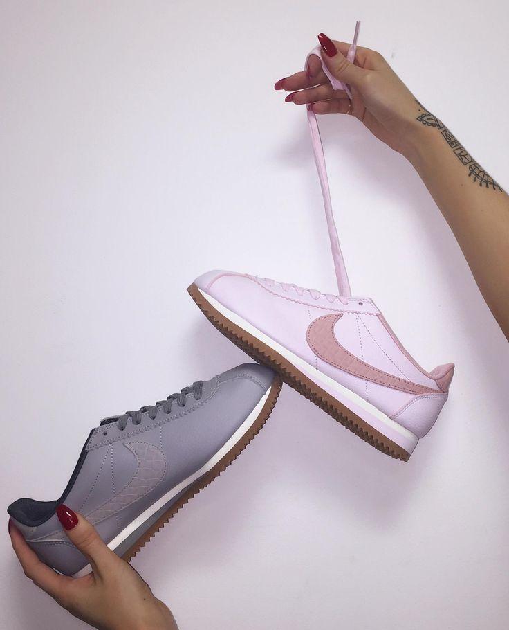 grey & pink nike cortez